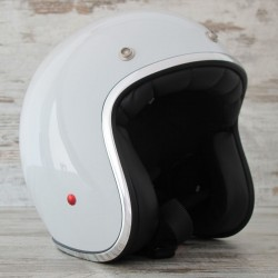 CASCO STORMER CAFE RACER BLANCO