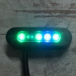 MICRO INDICADOR ALPHA 5 LED BLACK