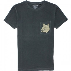 WOLF TEE WASHED BLACK