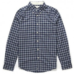 ALBIE CHECK NAVY SHIRT