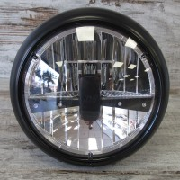 BLACK HEADLAMP POLICE RENO 3 LED
