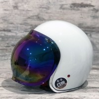 BUBBLE SHIELD VISOR, ANTIFOG, RAINBOW MIRROR
