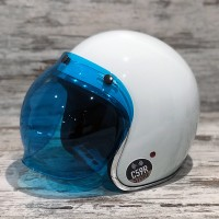 BILTWELL ANTI-FOG BUBBLE SCREEN BLUE