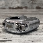"7/8"" MOTONE CHROME SWITCH BLACK 2 BUTTON"