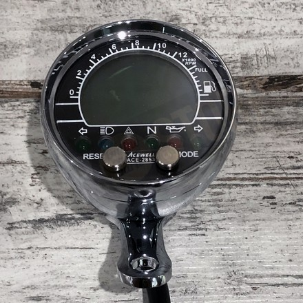 ACEWELL ACE-2853 SPEEDOMETER AND TACHOMETER CHROME