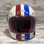 HELMET BELL BULLITT COMMAND VINTAGE WHITE/RED/BLUE