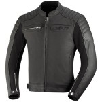 IXS LEATHER JACKET QUENTIN BLACK
