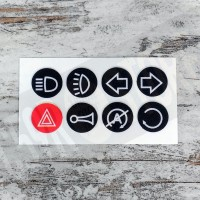 ADHESIVE PICTOGRAM SET FOR MOTOGADGET / MOTONE PUSH BUTTONS