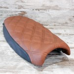 MOTONE DUAL SEAT - DIAMOND STITCH - BROWN AND BLACK