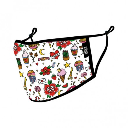AMERICAN SOCKS DOODLE CANDY FACE MASK