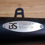 COMPLETE BS EXHAUST REVOULTION BLACK EMARKED FOR ROYAL ENFIELD 650